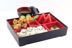 著名日本人Bento箱子 免版税库存图片