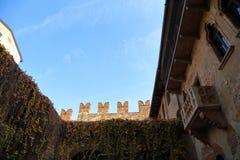 著名朱丽叶的阳台 免版税库存图片