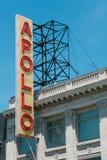 著名标志在阿波罗剧院外面 库存图片