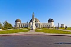 著名格里菲斯观测所在洛杉矶 库存图片