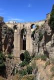 著名桥梁在朗达,西班牙 免版税库存照片