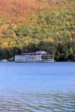 著名汽船, Lac du Saint Sacrement,湖乔治,纽约,秋天, 2014年 免版税库存照片