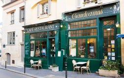 著名法国咖啡馆Gaudeamus,巴黎,法国 库存照片