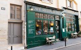 著名法国咖啡馆Gaudeamus,巴黎,法国 免版税图库摄影