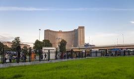 著名波斯菊旅馆在莫斯科,俄罗斯 25个地板, 177个房间 免版税库存图片