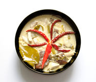 著名泰国与鸡的食物辣椰子奶油汤 库存照片