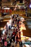 著名洪kok kong市场mong街道 免版税库存照片