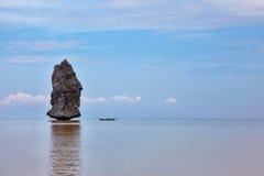 著名海岛岩石风帆 库存图片