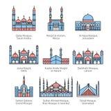 著名清真寺和回教` s圣地 库存照片