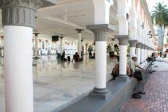 著名清真寺在吉隆坡,马来西亚- Masjid Jamek 图库摄影