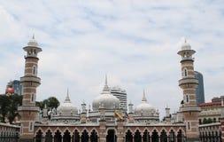 著名清真寺在吉隆坡,马来西亚- Masjid Jamek 免版税库存照片