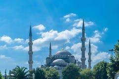 著名清真寺在土耳其市伊斯坦布尔 库存照片