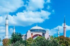 著名清真寺在土耳其市伊斯坦布尔 图库摄影