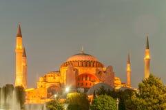 著名清真寺在土耳其市伊斯坦布尔 免版税图库摄影