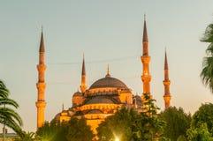 著名清真寺在土耳其市伊斯坦布尔 免版税库存图片
