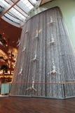 著名瀑布在迪拜Malll阿拉伯联合酋长国 图库摄影