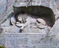 著名狮子纪念碑 免版税库存照片