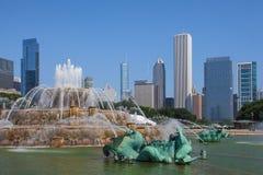 著名白金汉喷泉在格兰特公园 图库摄影