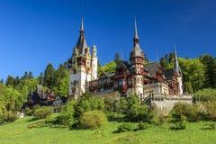著名皇家Peles城堡,锡纳亚,罗马尼亚 免版税库存照片