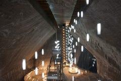 著名盐矿-盐沼图尔达在罗马尼亚 免版税库存照片
