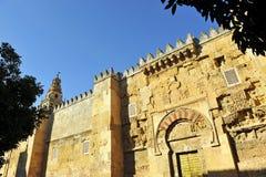 著名科多巴清真寺梅斯基塔de科多巴,安大路西亚的伊斯兰教的门地区,西班牙 免版税图库摄影