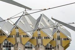 著名立方体房子在鹿特丹,荷兰 库存图片
