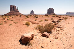 著名纪念碑谷全景,犹他,美国 库存图片
