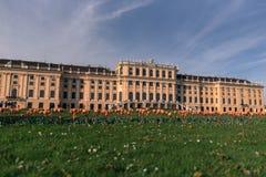 著名美泉宫在维也纳,奥地利 免版税库存图片