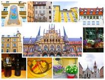 著名老市政厅在德国的慕尼黑 库存照片