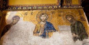 著名耶稣马赛克 库存图片
