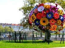 著名花树雕塑 免版税库存照片