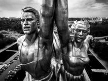 著名苏联纪念碑工作者和苏联的集体农庄的妇女,莫斯科 库存图片