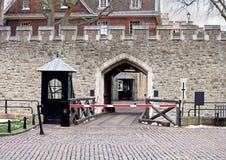 伦敦塔入口 免版税库存照片