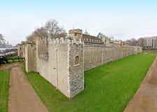 伦敦塔墙壁 免版税库存图片