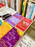 著名英国文学小说在图书馆书店的待售 免版税库存照片