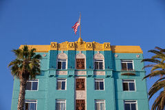 著名英王乔治一世至三世时期旅馆在旧金山 免版税库存图片