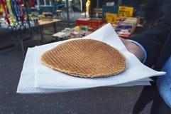 著名荷兰奶蛋烘饼接近的看法  免版税库存图片