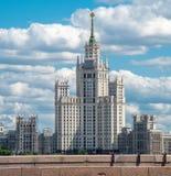 著名莫斯科skyscrapper 图库摄影