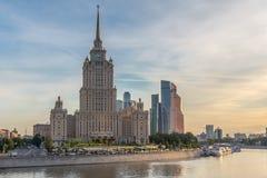著名莫斯科skyscrapper 免版税库存照片