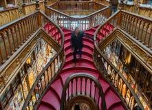 著名莱洛图书馆在波尔图 图库摄影