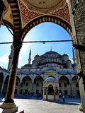 著名蓝色清真寺,伊斯坦布尔 免版税库存照片