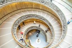 著名螺旋形楼梯-梵蒂冈博物馆 免版税库存图片