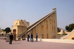 著名观测所Jantar Mantar在斋浦尔 免版税库存照片