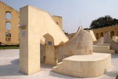 著名观测所Jantar Mantar在斋浦尔 库存图片