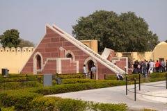 著名观测所Jantar Mantar在斋浦尔 库存照片