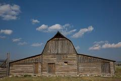 著名谷仓在盛大teton国立公园 免版税库存照片
