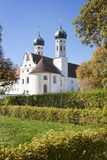 著名贝内迪克特博伊埃尔恩修道院,德国 库存图片