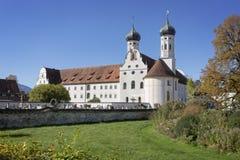 著名贝内迪克特博伊埃尔恩修道院,德国 库存照片