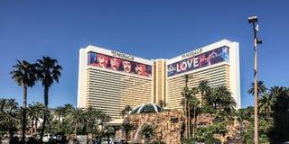 著名赌博娱乐场视图在拉斯维加斯,内华达,美国 免版税图库摄影