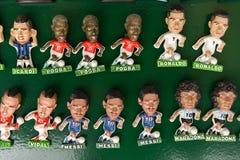 著名足球运动员纪念品磁铁  库存照片